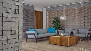 Szklana nowoczesna lampa wisząca do salonu